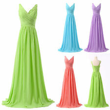 STOCK NEW Bridesmaid Wedding Dress Homecoming Party Evening Gown Prom Long Dress
