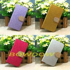 New Shiny Bling flip case cover For LG Mobile Phone with Credit Card Slot holder