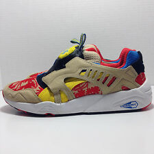 PUMA '35787602' Disc Cage Tropicalia Leather (Red / Curds-Whey Yellow) Sneakers