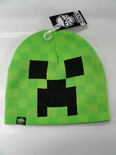Minecraft Creeper Face Green Beanie Hat Cap Official Licensed NEW