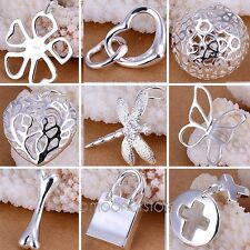 New Stylish Women's Jewelry 925 Sterling Silver Pendant Necklace Chain Xmas Gift