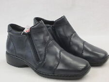 RIEKER LADIES  CASUAL LEATHER ANKLE BOOT  L3892-14 NAVY