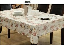 """72""""X54"""" Rectangle PVC Table Cloth Table Cover For Kitchen 006"""