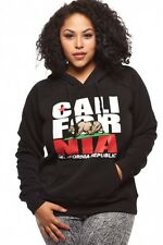 Women's Plus Size California Rep Pullover Hoodie Cali Swag Sweater junior/plus