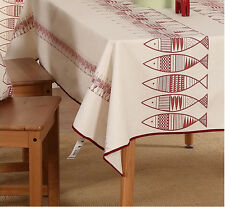 "86""X55"" Rectangle Cotton Table Cloth Table Cover For Kitchen 045"