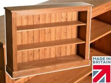 Waxed Solid Pine 3ft x 4ft Bookcase, Hand-Made Adjustable Display Shelving Unit