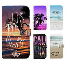 Beautiful California Sandbeach Wallet Flip PU Leather Case for Samsung S3 S4 S5