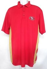 San Francisco 49ers Football Men's Sideline Dri Fit Performance Polo Red NWT