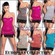 NEW sexy PADDED POLKA DOT TOPS ONLINE 6 8 10 SHOP LADIES DOTTED TOP SHIRT XS S M
