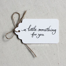 """GIFT TAGS """"A little something for you"""" White Party Wedding Hens Favours 24 pcs"""