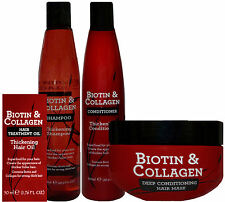 Biotin & Collagen Thickening Superfood Hair Products - Shampoo Conditioner Mask