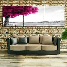 3 Pcs Romantic Wall Art Tree Picture Canvas Painting Red Tree Painting Pictures