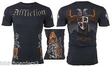 AFFLICTION Mens T-Shirt WAR Knight Eagle Tattoo Fight Biker UFC Vtg S-4XL $66 a