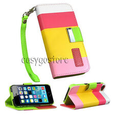 Leather Flip Cover Credit Card Wallet Case For iPhone 6 iPhone 5S 5 iPhone 4S 4