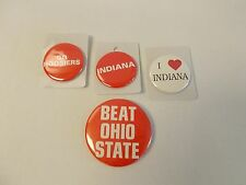 Lot of four (4) Indiana University assorted buttons. You choose. You'll get 2