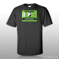 Indiana Ghost Hunting Permit T-Shirt Tee Shirt Free Sticker Paranormal Hunter IN