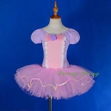 Fuff Sleeves Sequin Rose Ballet Tutu Dancewear Costume Fairy Dress Size 2-8 #050