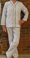 """Pajamas Very Soft Flannel Blue Print- Perfect Price """"Made in USA"""""""