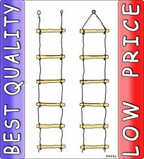 = NEW WOODEN ROPE LADDER = 5 or 6 RUNGS climbing swing for children kids