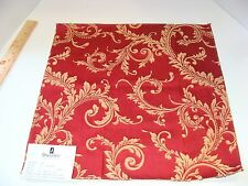 DURALEE 32060 Red Blue Gold Damask Designer Fabric Remnant Crafting Quilting