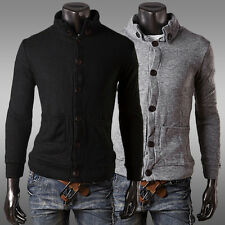 DISCOUNT Slim Fit Men Button Cardigans Knitted Sweatshirt Jackets Coats New XS-L