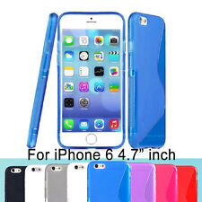 "Screen Protector/S line Skin Soft Gel Back Case For iPhone 6 /6s 4.7"" inch"