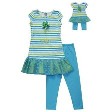 """Dollie & Me Sz 12  gril and 18"""" doll matching outfit set fit american girls"""