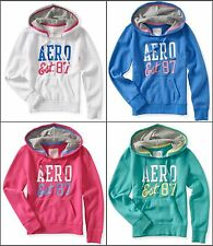 NWT AEROPOSTALE Women embroidery Long Sleeve Pull Over Hoodie Aero Sweatshirt
