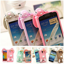 Hot sale 3D Gagtooth Rabbit skin cover for Samsung Galaxy S3/S4/Note2/Note3 case