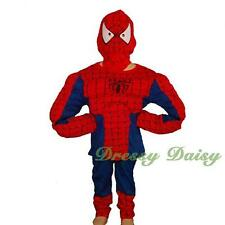 Muscle Spiderman Superhero Fancy Costume Halloween Party Kid Size 3 4 5 6 7 005B