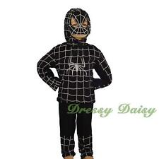 Black Spiderman Superhero Fancy Party Costume Halloween Kid Size 2 3 4 5 6  #012