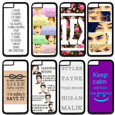 """One Direction 1D Quotes For Apple 5.5"""" iPhone 6 Hard Plastic Case Back Cover"""