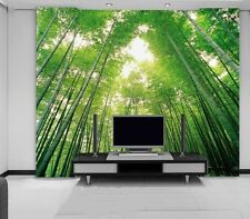 3D Bamboo Forest Green Wall Murals Wallpaper Decal Decor Home Kids Nursery Home