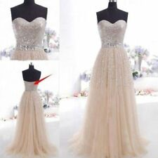 2014 New Sequins Long Prom Dress Evening Cocktail Dress Wedding Bridesmaid Gown