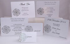 SNOWFLAKE DESIGN SAMPLE WEDDING STATIONERY SET *FAST AND FREE P&P*
