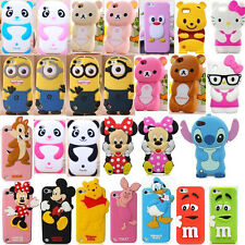 3D Cartoon Soft Silicone Cover Case For iPhone 4/5S iPod Touch 4/5TH +1Film+2Pen