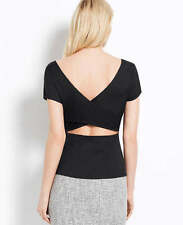 Ann Taylor – Misses & Petite's Black or White Criss-Cross Back Top $69.00