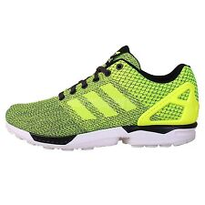Adidas Originals ZX FLUX Weave Volt Grey 2014 Mens Running Shoes Casual Sneakers