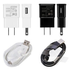 White Black NEW 2.0 Amp Wall Charger + Micro USB Cable For Samsung Galaxy S4 S3