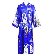 Oriental Chinese Kimono Style Satin Dressing Gown Bath Robe Pajamas