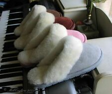 NEW WOMENS LADIES BEST SHEEPSKIN SCUFF SLIPPERS SIZE 5 6 7 8 9 10 ALL COLORS