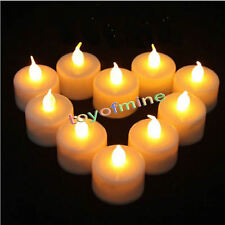 LED Tea Light Tealight Candle Flameless Flickering Wedding Battery Not Included