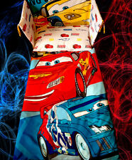 Disney Cars RED BLUE Cot BEDDING SET - McQueen - Exclusive