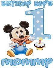 Personalized Mickey Mouse 1st Birthday Boy's Mommy T Shirt