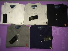 POLO RALPH LAUREN MEN'S CUSTOM FIT PONY RUGBY SHIRT S, M, L, XL, XXL NWT! NEW!