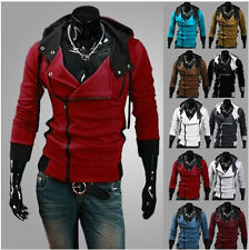 New Fashion Mens Assassin's Creed 7 Slim Fit Hoodies Sweats Cosplay Costume Coat