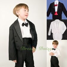 5 pcs Tuxedo Formal Suit Wedding Pageboy Dinner Christening Outfit Size 0-9 #001