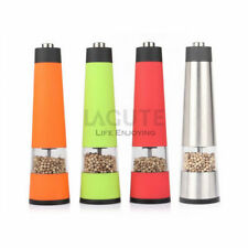LAGUTE Automatic Pepper Salt Spice Grinder ABS Stainless Steel Mill 4 Models NEW