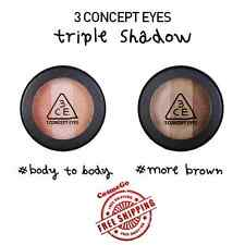 3CE 3 Concept Eyes Triple Eye Shadow - BODY TO BODY / MORE BROWN