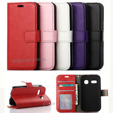 Fashion Flip ID Card Stand PU Leather Wallet Cover Case For Various Cell Phones